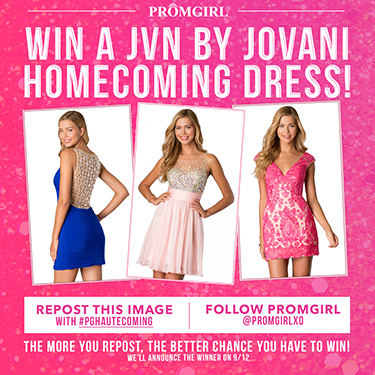 Win a JVN by Jovani Homecoming Dress