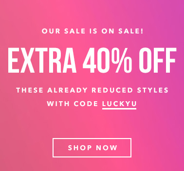 Extra 40% off With Code LUCKYU