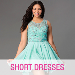 Cheap short plus size party dresses