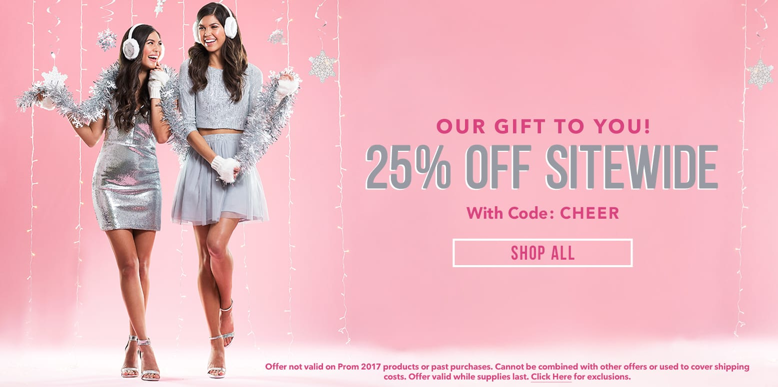 25% Off Sitewide with Code: CHEER