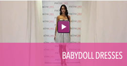 Video of babydoll homecoming dresses.