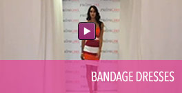 Video of bandage style homecoming dresses.