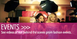 Watch behind the scenes action at prom fashion events.