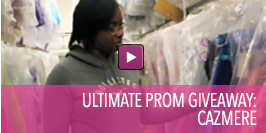 Video of Ultimate Prom Giveaway Winner Cazmere.