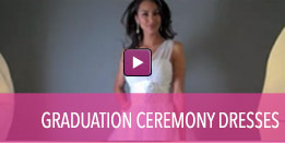 View video of current graduation ceremony dresses.