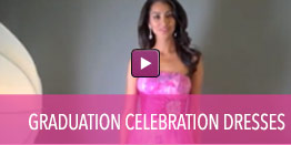 View video of graduation celebration dresses.