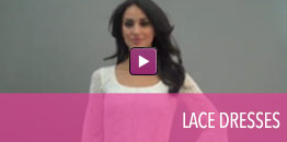 View video of lace dresses.
