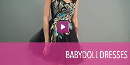 View video of babydoll dresses.