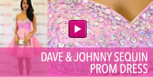 Video of Dave and Johnny sequin prom dress.