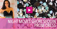 Video of Night Moves Short Sequin Prom Dress.