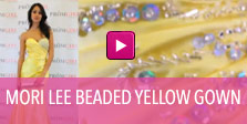 Video of Mori Lee beaded yellow gown.