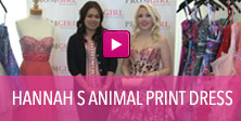 Video of Heather S animal print dress.