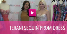 Video of Terani sequin prom dress.
