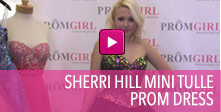 Video of Sherri Hill mini tulle prom dress.