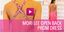Video of Mori Lee open back prom dress.