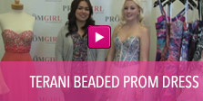 Video of Terani beaded prom dress.