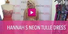 Video of Hannah S Neon tulle dress.