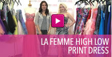 Video of La Femme high low dress.