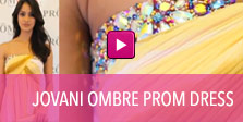 Video of Jovani ombre prom dress.