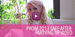 Video with  tips for safe after prom partying.