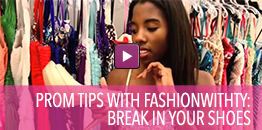 Video with tips on prom shoes.