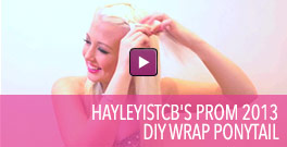 Video on prom hairstyling with a wrapped ponytail.