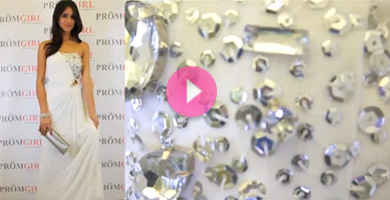 Video of Shimmer cut out prom dress.