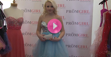 Video of Tony Bowls beaded prom dress.
