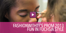 Video on how to create a fun in fuchsia style for prom 2013.