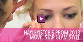 Video on how to create a movie star glam style for prom 2013.