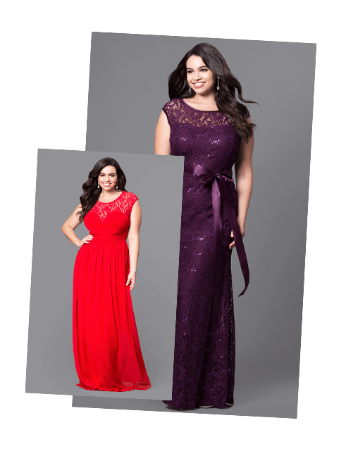 Plus-Size Homecoming Dresses, Evening Gowns - PromGirl