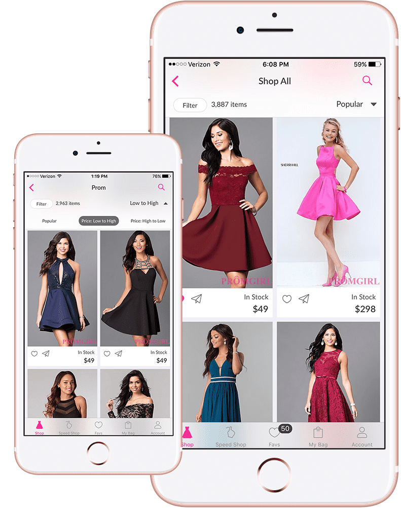 PromGirl Shop App, Prom & Party Dresses, Prom Shoes