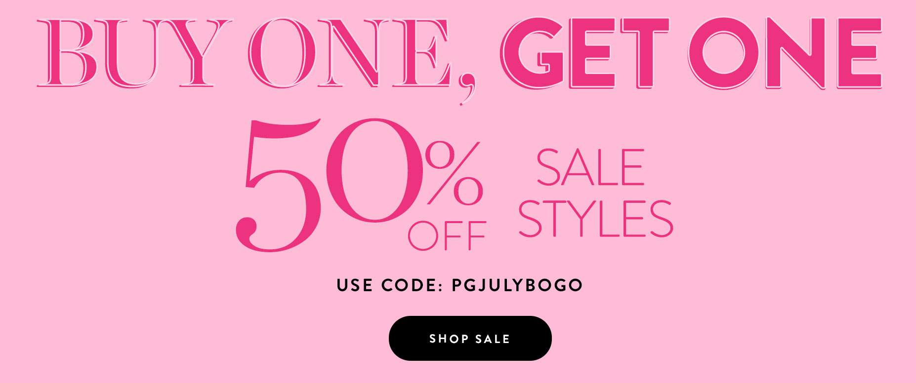 50% Off Sale Styles