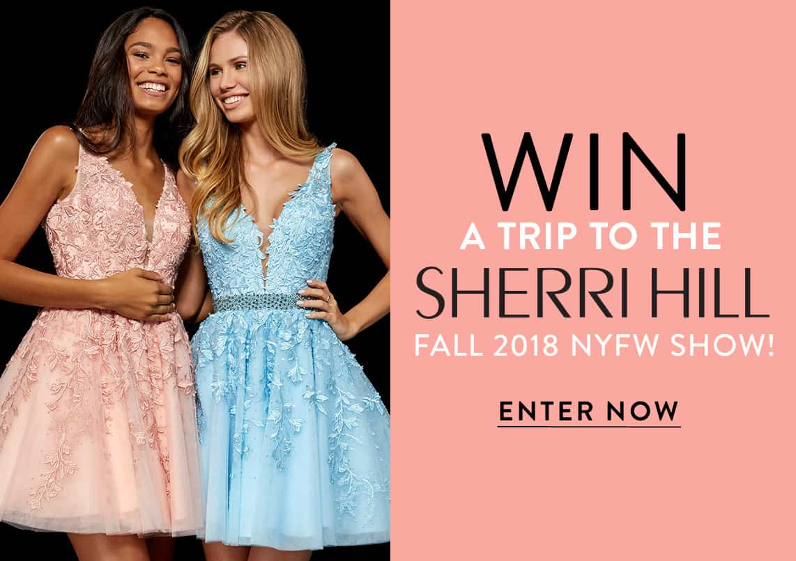 Win a trip to the Sherri Hill Fall 2018 NYFW Show!