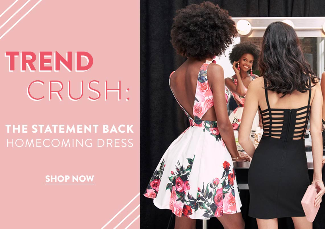 Trend Crush: The Statement Back Homecoming Dress