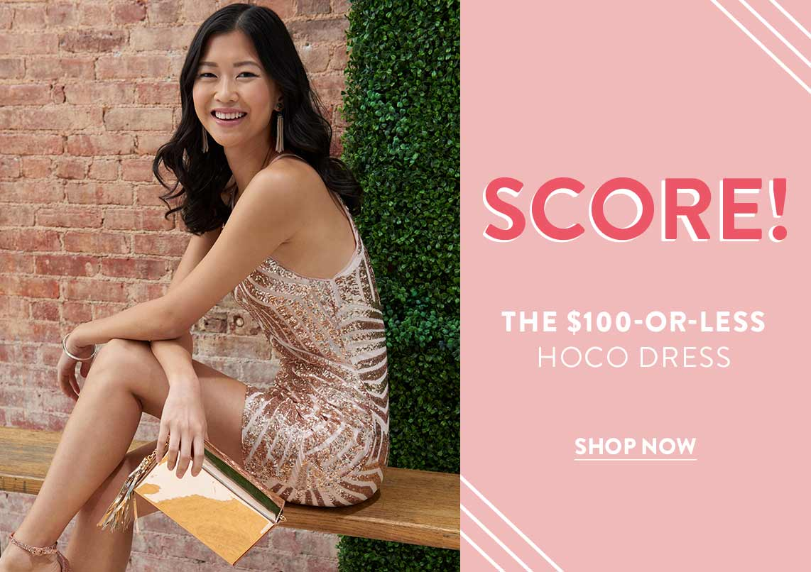 Score! The $100-or-Less HOCO Dress