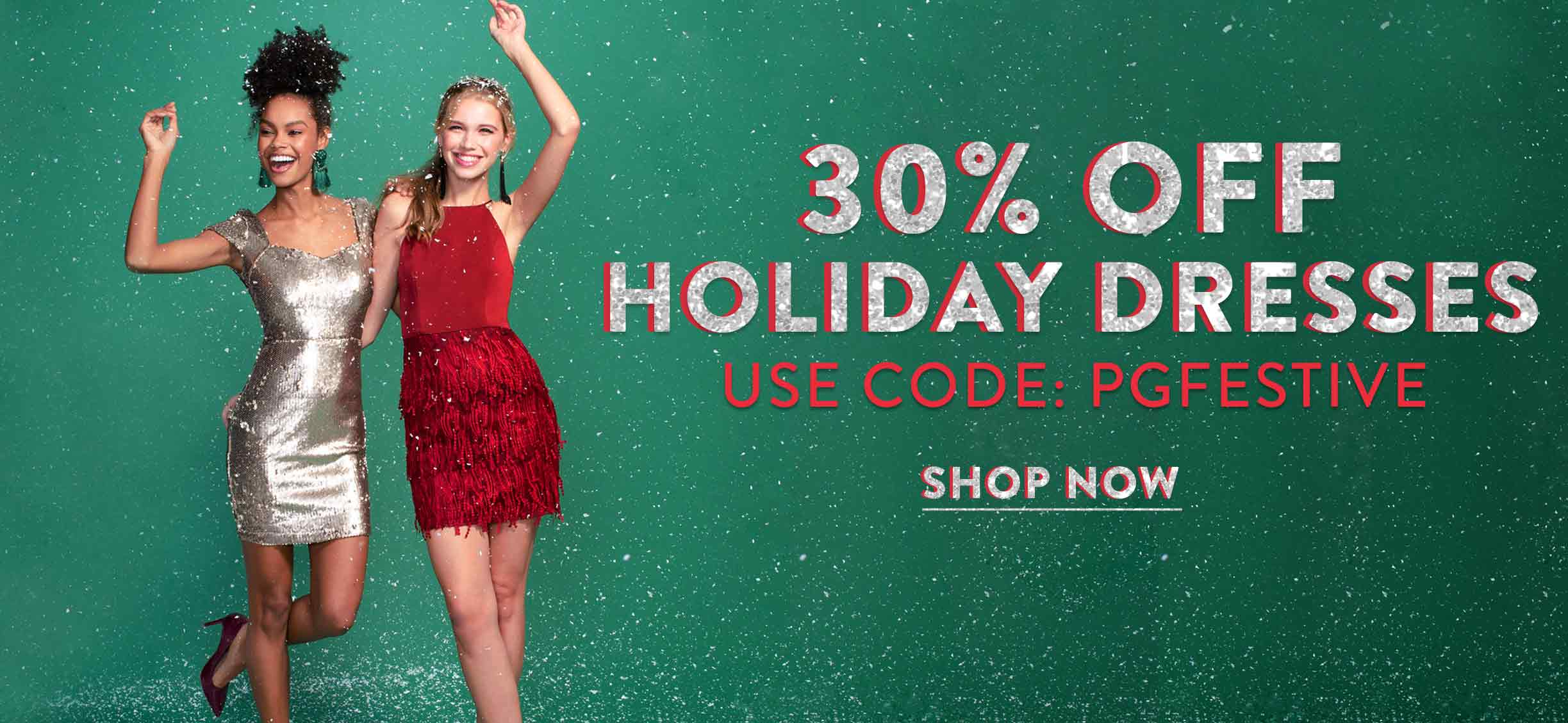 30% off Holiday Dresses